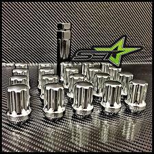 20 CHROME SPLINE LUG NUTS 14X1.5 | CHEVY CAMARO | CADILLAC CTS | CTS-V