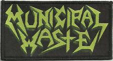 "Municipal Waste ""Logo"" Woven Patch - OFFICIAL art of partying hazardous mutation"