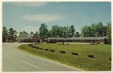 Laurel Lodge Motel Restaurant London Kentucky Cars Gas Station Vintage Postcard