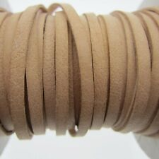 """10' - 3mm Real Leather Natural Color  Lacing 1/8 inch by 120""""  Lace for Craft"""