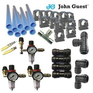 John Guest-Workshop Air Line Starter Kit-Air Line Fittings-9m Kit-Euro Fittings