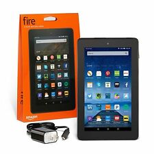 Amazon Kindle Fire 7 inch IPS 8 GB Black w/ Front & Rear Camera - New Model 2016