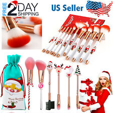 6-10 PCs Makeup Brushes Set Christmas Professional Kit Powder Eyeshadow Gift
