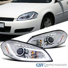 For Chevy 06-13 Impala 06-07 Monte Carlo Clear LED DRL Strip Projector Headlight