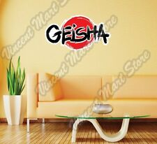"Geisha Japanese Female Girl Japan Wall Sticker Room Interior Decor 25""X15"""