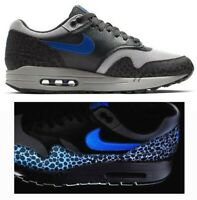 New NIKE Air Max 1 QS Reflective Mens Sneaker gray blue all sizes