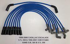 CADILLAC ESCALADE,GM VANS VORTEC 5.0L/305 5.7L/350 1996-01 BLUE Spark Plug Wires