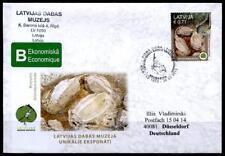 National-Museum der Natur, Fossilien. FDC-Brief. Lettland 2015