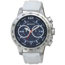 Henley Decorative Multi-Eye Big Dial White Silicone Strap Fashion Watch H020826