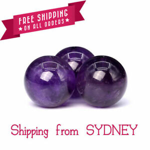 30 x 8mm Purple Amethyst - Natural Gemstone Loose Beads Round Beaded
