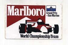 Adesivo FORMULA 1 SAN MARINO GP MARLBORO TEAM World Championship sticker F1 - 2