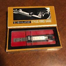 Shure SFG-2 Precision Stylus Force Gauge in Original Box w/ Instructions hi-fi