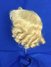 Antique Doll Wig Blonde Mohair with Curls