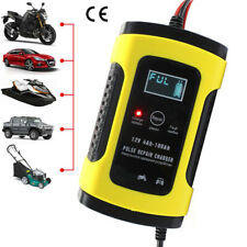 12V 6A Intelligent Pulse Repair LCD Car Automobile Motorcycle Battery Charger pf