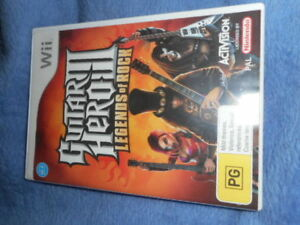 wii guitar heroes 111 legends of rock game with booklet
