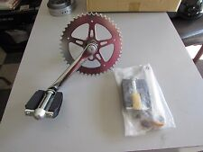 Custom Wide Crank assembly with pedals fits Cruzzer, Whizzer & Motorbikes
