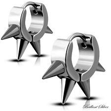 Creolen Klappcreolen Ohrstecker Ohrringe Edelstahl Silber Spikes 1 St / 1 Paar