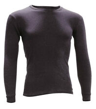 L Large DriRider Merino Wool Thermal Long Sleeve Raglan Top Shirt Ski Black