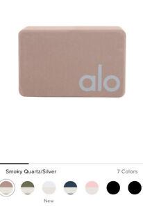 Alo Yoga Uplifting Yoga Block Smoky Quartz/Silver 4x6x9 100% EVA