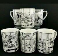 Noritake Epoch Collection Le Restaurant Mugs Cups French Bistro Set of 6