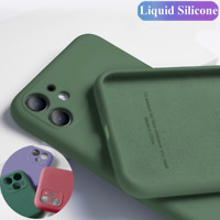 For iPhone 12 Mini 11 Pro Max XR XS 8 7 Liquid Silicone Case Lens Protect Cover