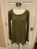 We The Free: Free People Freen Waffle Knit Long Sleeve Top, Size M