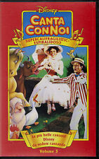 VHS - WALT DISNEY - CANTA CON NOI 3 - SUPERCALIFRAGILISTIC-ESPIRALIDOSO