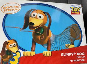 DISNEY PIXAR Stretchy TOY STORY 3 Stretch SLINKY DOG Pull TOY 2010 In Box