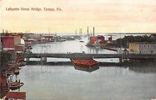 Florida postcard Tampa Lafayette Street Bridge