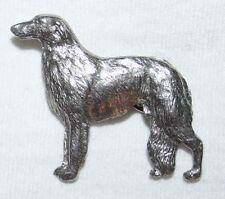 Borzoi Dog Fine Pewter Pin Jewelry Art Usa Made