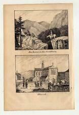 Monastère Ebrach-Kordilleren-Cordillère-Lithographie 1840