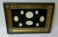 Framed Group Authentic Grand Tour Classic Plaster Cameo Intaglios, c. 1820