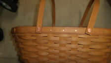 Longaberger To Go Basket - Warm Brown Stain - Nwt