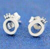 925 Sterling Silver Earring Polished Crown O Signature Earrings For Women
