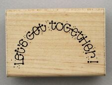 D.O.T.S. Love Friends Rubber Stamp LET'S GET TOGETHER