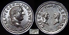 VITELLIUS-69 AD Silver Denarius. 3.40gr. *Vitellia & Vitellius Germanica Superb