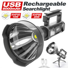 Powerful Super Bright LED Searchlight Handheld Spotlight Flashlight Rechargeable