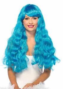 Leg Avenue Women's Wavy Long Wig - Blue - Adult One Size