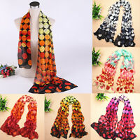 Beautiful Women Polka Dot Spotted Scarf Wrap Colorful Long Soft Shawl Scarves