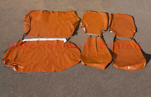 Liners Complete Cover Seats IN Leatherette Ocra for Fiat 500 R - Quality Asi