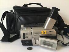 SONY HANDYCAM VISION HI8 VIDEO CAMERA XR NIGHT SHOT 360X DIGITAL ZOOM BAG + ACCE