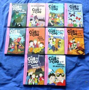 lot 1 de 10 livres LE CLUB DES CINQ / Enid Blyton / 10401