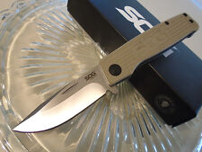 SOG Tan Terminus Tactical Pocket Knife TM1001-BX CTS-BD1 Stainless G10 Slipjoint