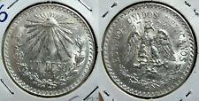 MEXICO 1 PESO 1944 Km#455 SILVER