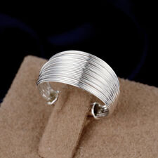 925 Sterling Silver Filled Stylish Nail Design Wedding Engagement Band Ring G9