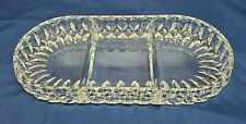 Vintage 1980's Gorham ALTHEA  Lead Crystal 3-Part RELISH Dish W Germany MINT