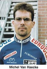 CYCLISME carte cycliste MICHEL VAN HAECKE équipe IPSO