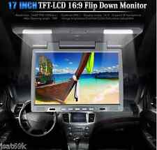 17 Inch TFT LCD Roof Overhead Car Monitor w/ Built-in IR Transmitter, Dome Light