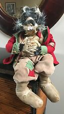 "Mark Roberts (?) Christmas Edwardian Squirrel - Posable arms & legs - 25"" tall"