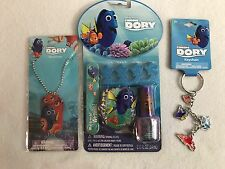 Disney Pixar Finding Dory Gift Pack Orange Dog Tag Necklace Nail Kit & Key Chain